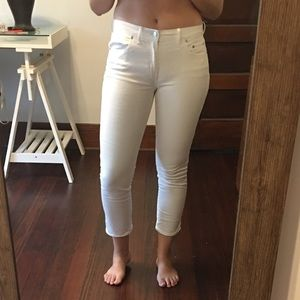 Gap white ankle jeans